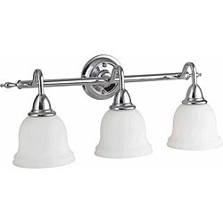 Montpelier Collection 3-light Chrome Finish Bath Bar