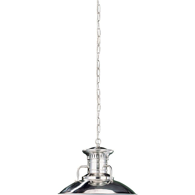Luray Collection 1-light Brushed Nickel Finish Large Pendant
