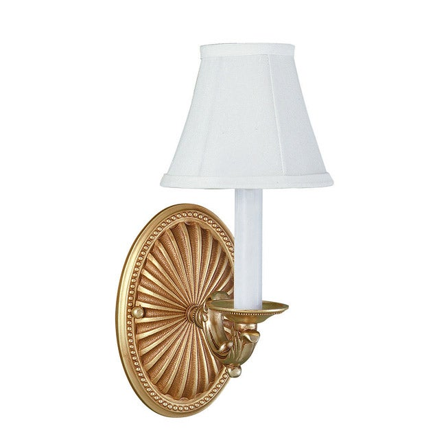 World Imports French Gold 1-Light Wall Sconce