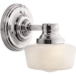 Schoolhouse Bath Collection 1-light Chrome Wall Sconce