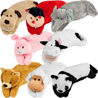 All-in-one Children's Large Animal Pillow Pet and Sleeping Bag Set