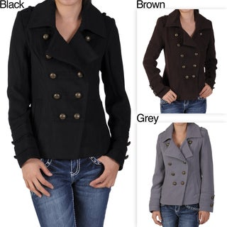 Ci Sono by Journee Junior's Military-inspired Double-breasted Coat