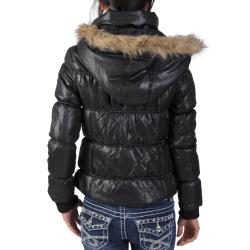 Ci Sono by Journee Juniors Faux Fur Trim Bubble Jacket