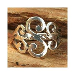 Sterling Silver 'Three Sweet Swirls' Cocktail Ring (Thailand)