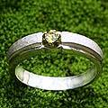 Handcrafted Sterling Silver 'Honeymoon' Peridot Ring (Indonesia)