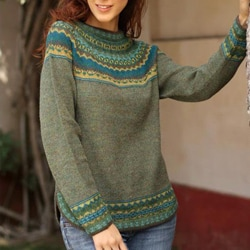 Alpaca Wool 'Inca Valley' Sweater (Peru)