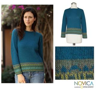 Alpaca Wool 'Inca Muse' Sweater (Peru)