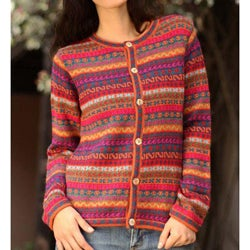 Alpaca Wool 'Be Bold' Cardigan (Peru)