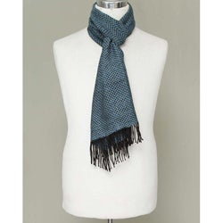 Men's Alpaca 'Lake Arapa Night' Scarf (Peru)