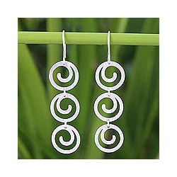 Sterling Silver 'Energy' Earrings (Thailand)