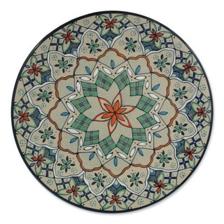 Ceramic 'Wildflower' Plate (Mexico)