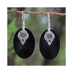 Sterling Silver 'Chiang Mai Charm' Mango Wood Earrings (Thailand)