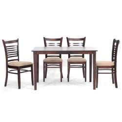 Cathy Brown Wood Modern 5-piece Dining Set