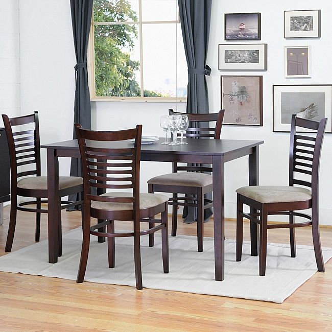 cathy brown wood modern 5 piece dining set 13923522