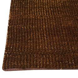 Hand-woven Cher Brown Area Rug (5' x 8')