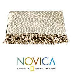 Acrylic and Alpaca Wool 'Sand Dunes' Throw (Peru)