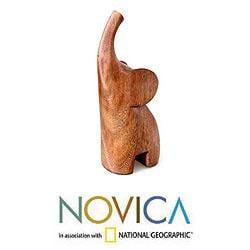 Suar Wood 'Essential Elephant' Sculpture (Indonesia)