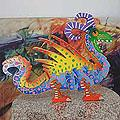 Wood 'Mischievous Dragon' Display Jigsaw Puzzle (Mexico)
