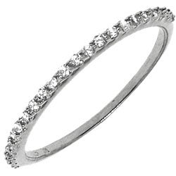Sterling Silver Clear Cubic Zirconia Band