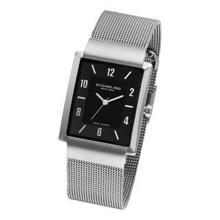 Stuhrling Original Men's Newberry Plaza Mesh Bracelet Watch