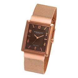 Stuhrling Original Men's Newberry Plaza Brown Mesh Watch