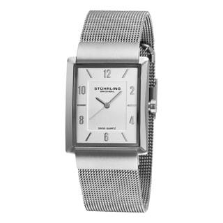 Stuhrling Original Men's Newberry Plaza Stainless Steel Swiss Quartz Watch