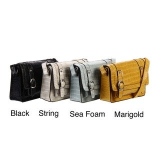 Mondani Mott Croco Embossesd Cross-body Bag