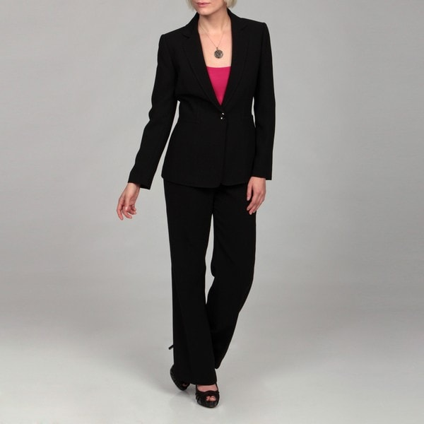 Awesome Tahari By Asl Petite Pinstripe Toggle Front Pantsuit In Black  Lyst