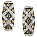 Moise Sterling Silver Champagne Cubic Zirconia Earrings