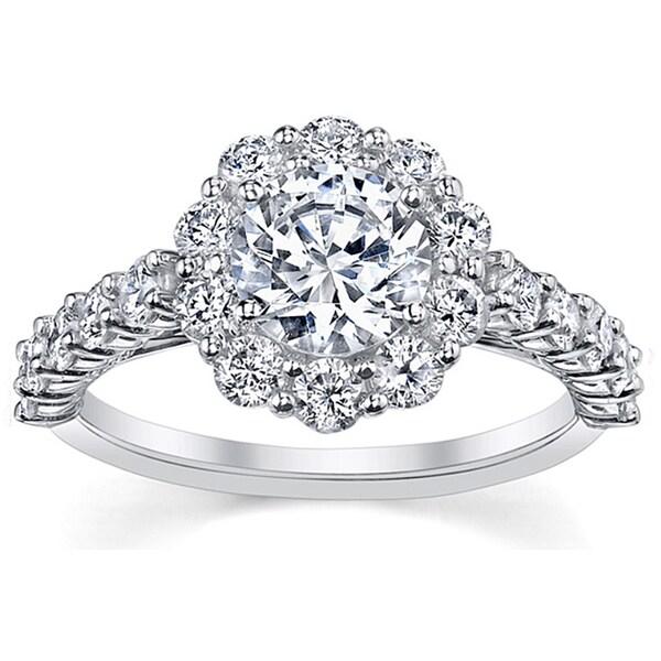 18k White Gold 1ct TDW Certified Round-cut Diamond Engagement Ring (I, SI3)