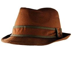 H2W Brown Lay Back Fedora Hat