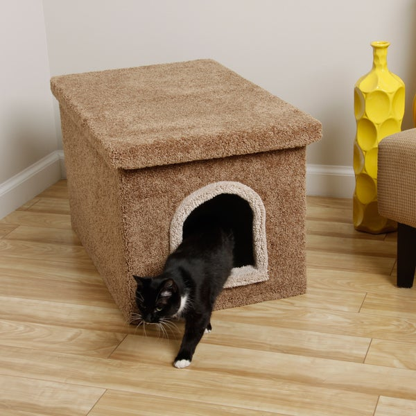 New Cat Condos Litter Box Enclosure in Blue (As Is Item)