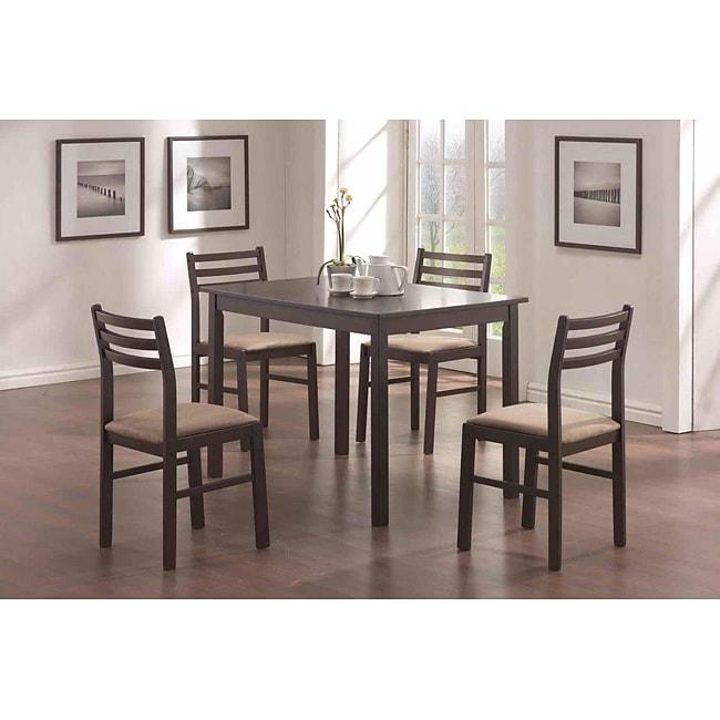 Cappuccino Veneer 5-piece Dinette Set