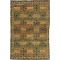 Nepalese Hand-Knotted Gold Inca Wool Rug (6 x 9)