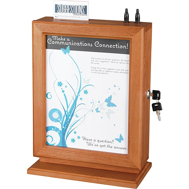 Safco Customizable Wood Suggestion Box