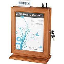 Customizable Wood Suggestion Box