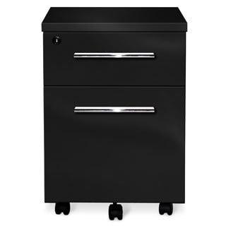 Jesper Office 2-drawer Black Lacquer Mobile Pedestal