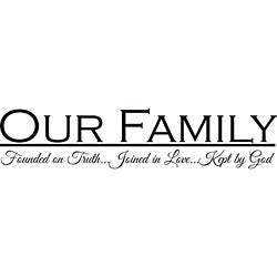 'Our Family' Vinyl Wall Art Quote