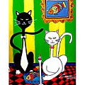 Cooper K 'Cats 2' Gallery-wrapped Canvas Art