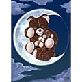 Corey Wolfe 'Bear on Moon' Gallery-wrapped Canvas Art