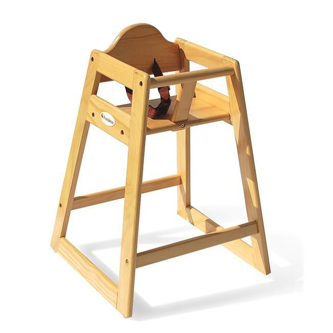Foundations Hardwood High Chair in Natural