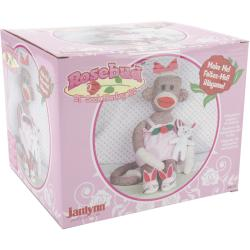 Janlynn Rosebud 21-inch Sock Monkey Companions Toy Craft Kit