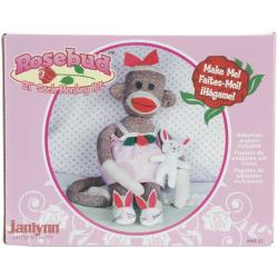 Janlynn Rosebud 21-inch Sock Monkey Companions Toy Craft Kit