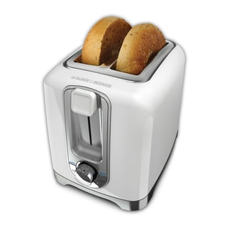 Black & Decker White 2-Slice Toaster