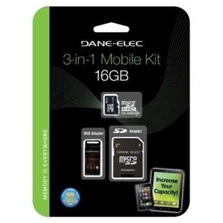 Dane-Elec DA-3IN1C1016G-R 16 GB microSD High Capacity (microSDHC)