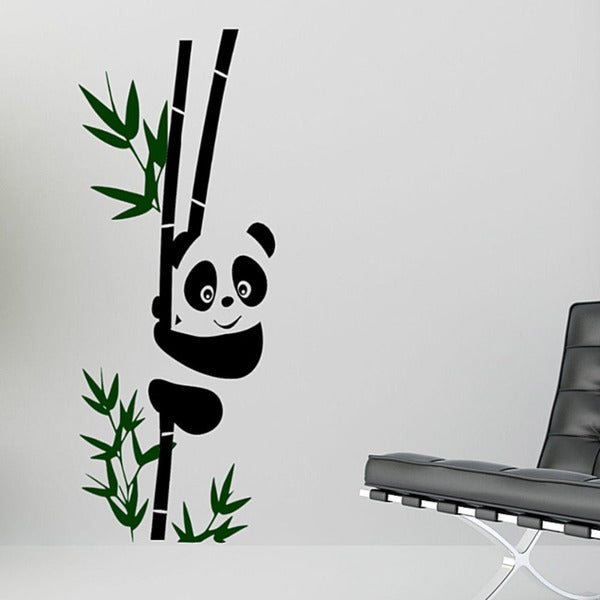 Vinyl 'Panda on a Bamboo Stalk' Wall Decal 8494922
