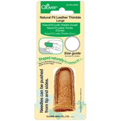 Clover Natural Fit Large Leather Thimble