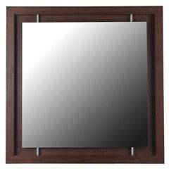 Shelby Mahogany Wall Mirror (34 x 34)