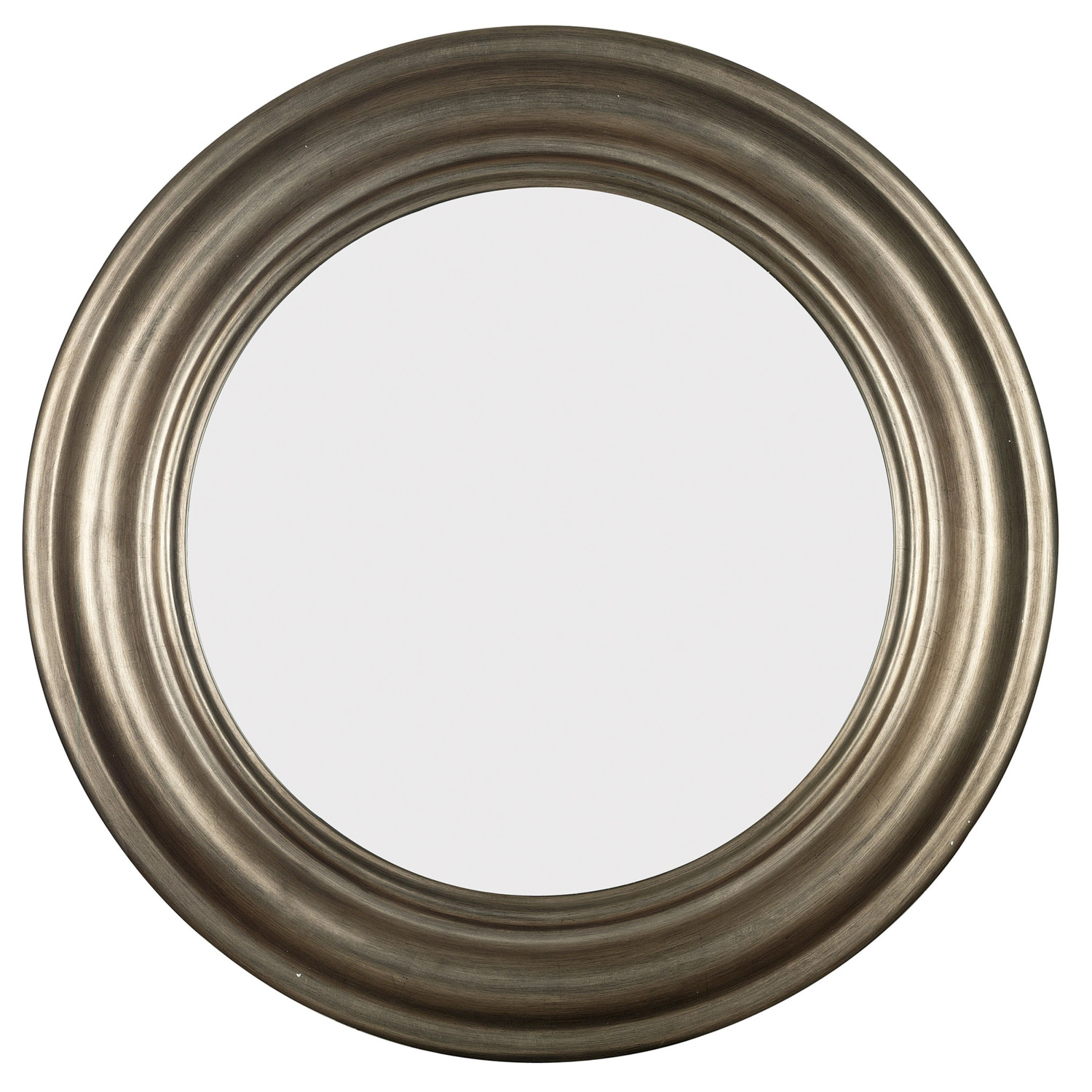 Pasco Round Antique Silver Wall Mirror