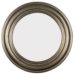 Pasco Round Antique Silver Wall Mirror